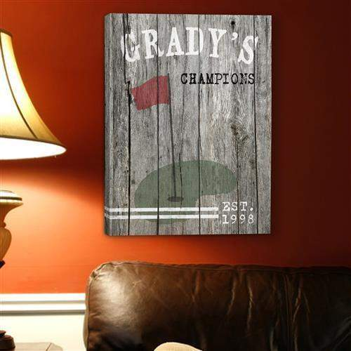 Man Cave Canvas Print - GOLF-Home Decor-LTM Endeavors Gifts