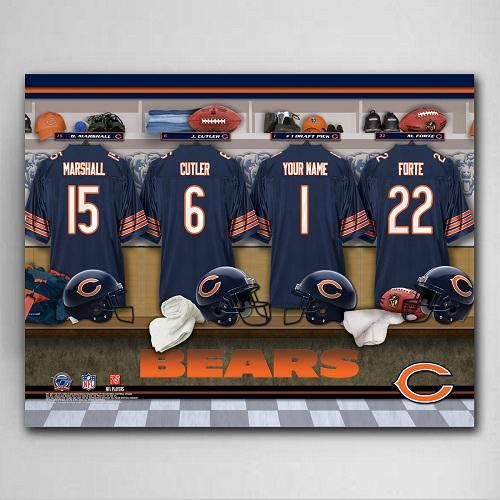 NFL Locker Canvas Prints - Available in All 32 Teams-Home Decor-LTM Endeavors Gifts