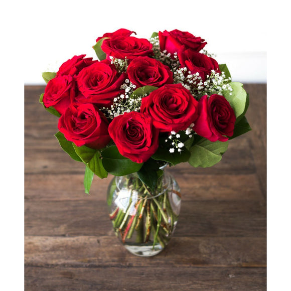 One Dozen Red Roses-Flowers-LTM Endeavors Gifts