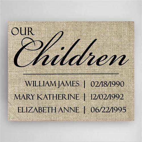 Our Children Canvas Sign-Canvas Sign-LTM Endeavors Gifts