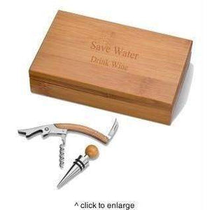 Personalized Bamboo Wine Kit-Beverage ware-LTM Endeavors Gifts