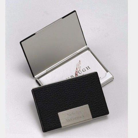 Personalized Black Leather Business Card Case-Miscellaneous-LTM Endeavors Gifts