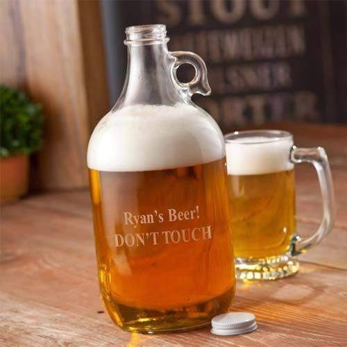 Personalized Brewmasters Beer Growler-groomsman-LTM Endeavors Gifts