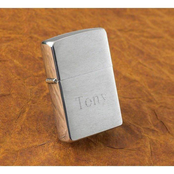 Personalized Brushed Chrome Zippo Lighter-Him-LTM Endeavors Gifts