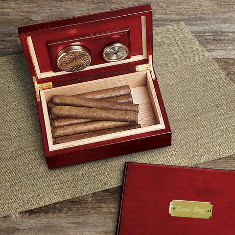 Personalized Cherry Finish Humidor-humidor-LTM Endeavors Gifts