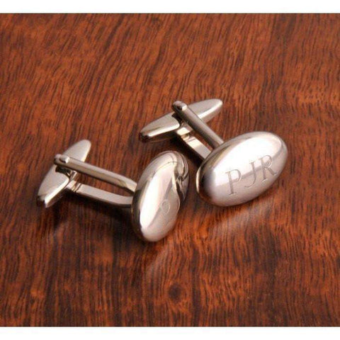 Personalized Cuff links - Oval High-Polished-jelewery-LTM Endeavors Gifts