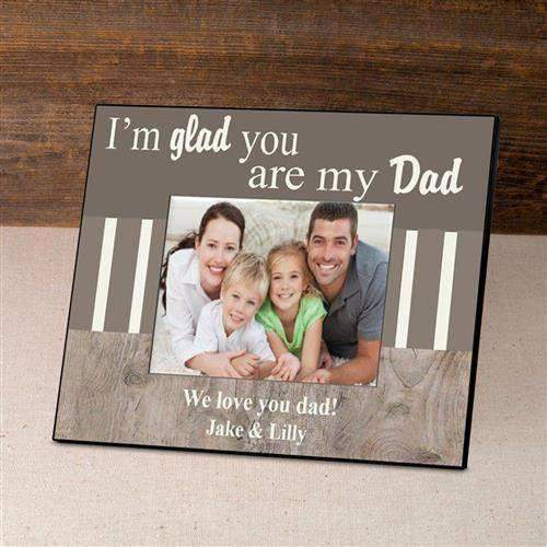 Personalized Father's Day Frame - I'm Glad-Picture frame-LTM Endeavors Gifts