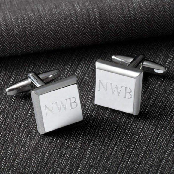 Personalized Modern Square Cufflinks-jelewery-LTM Endeavors Gifts
