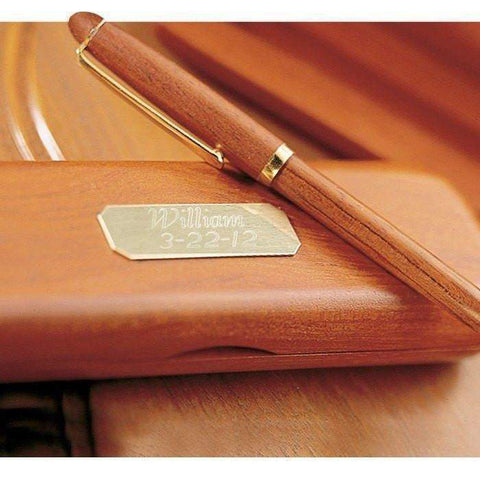 Personalized Rosewood Pen & Case-Corporate-LTM Endeavors Gifts