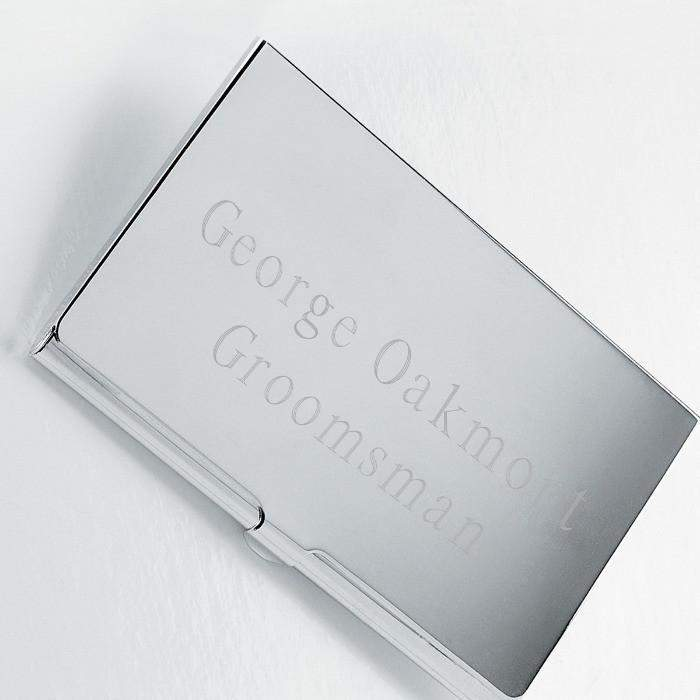 Personalized Silver Business Card Case – LTM Endeavors Gifts