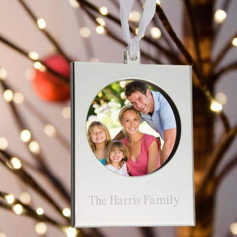 Personalized Silver Frame Ornament-Picture frame-LTM Endeavors Gifts