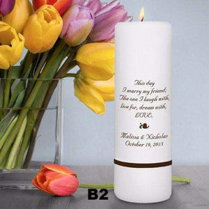 "Personalized Wedding Unity - 3"" x 9"" Unity Candle-candle-LTM Endeavors Gifts"