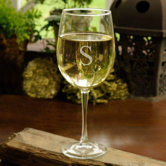 Personalized White Wine Glass-Beverage ware-LTM Endeavors Gifts