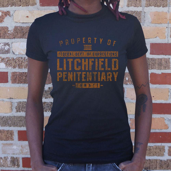 Property Of Litchfield Penitentiary T-Shirt T-Shirt (Ladies)-Ladies T-Shirt-LTM Endeavors Gifts