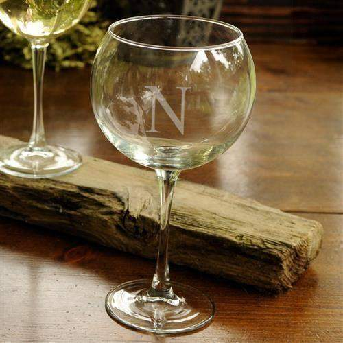 Red Wine Glass - Monogrammed Red Wine Glass - LTM Endeavors Gifts