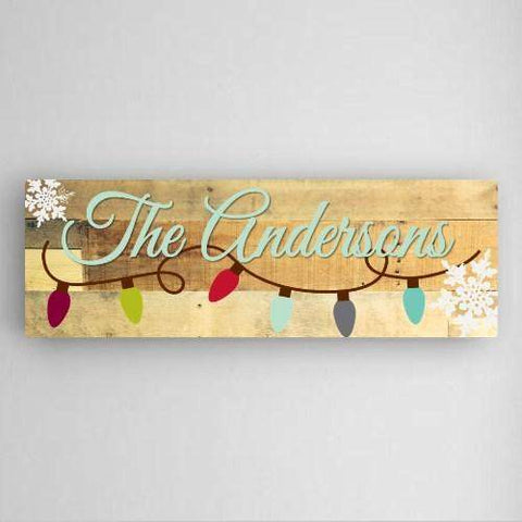 "Snowflakes Canvas Sign - 8""x 24""-Home Decor-LTM Endeavors Gifts"