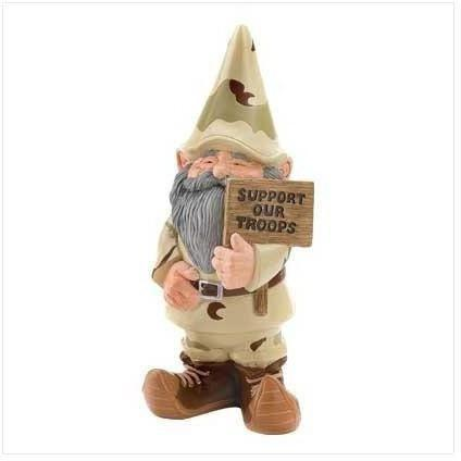 Support Our Troops Garden Gnome-Garden gnomes-LTM Endeavors Gifts