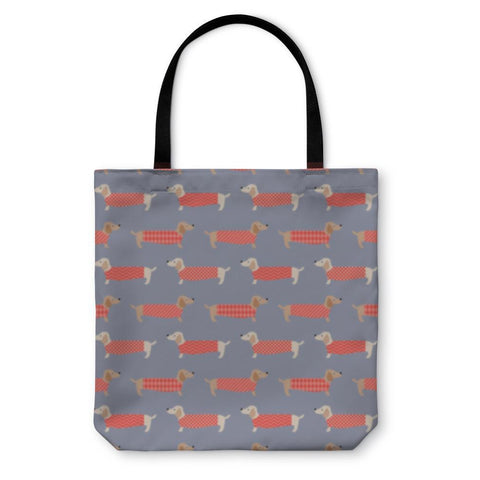 Tote Bag, Dachshund Dogs Pattern-Tote Bag-LTM Endeavors Gifts
