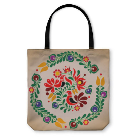 Tote Bag, Hungarian Kalocsai Ornament-Tote Bag-LTM Endeavors Gifts