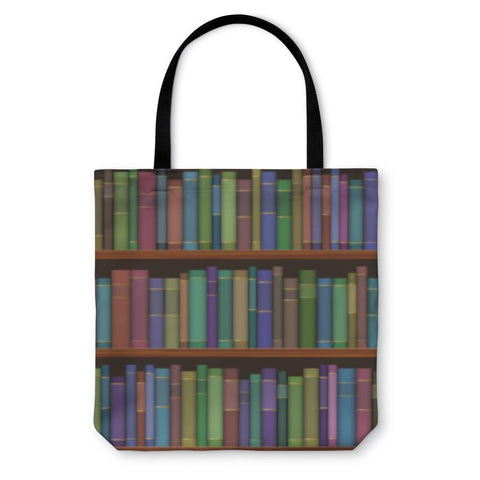 Tote Bag, Library Shelves With Old Books-Tote Bag-LTM Endeavors Gifts