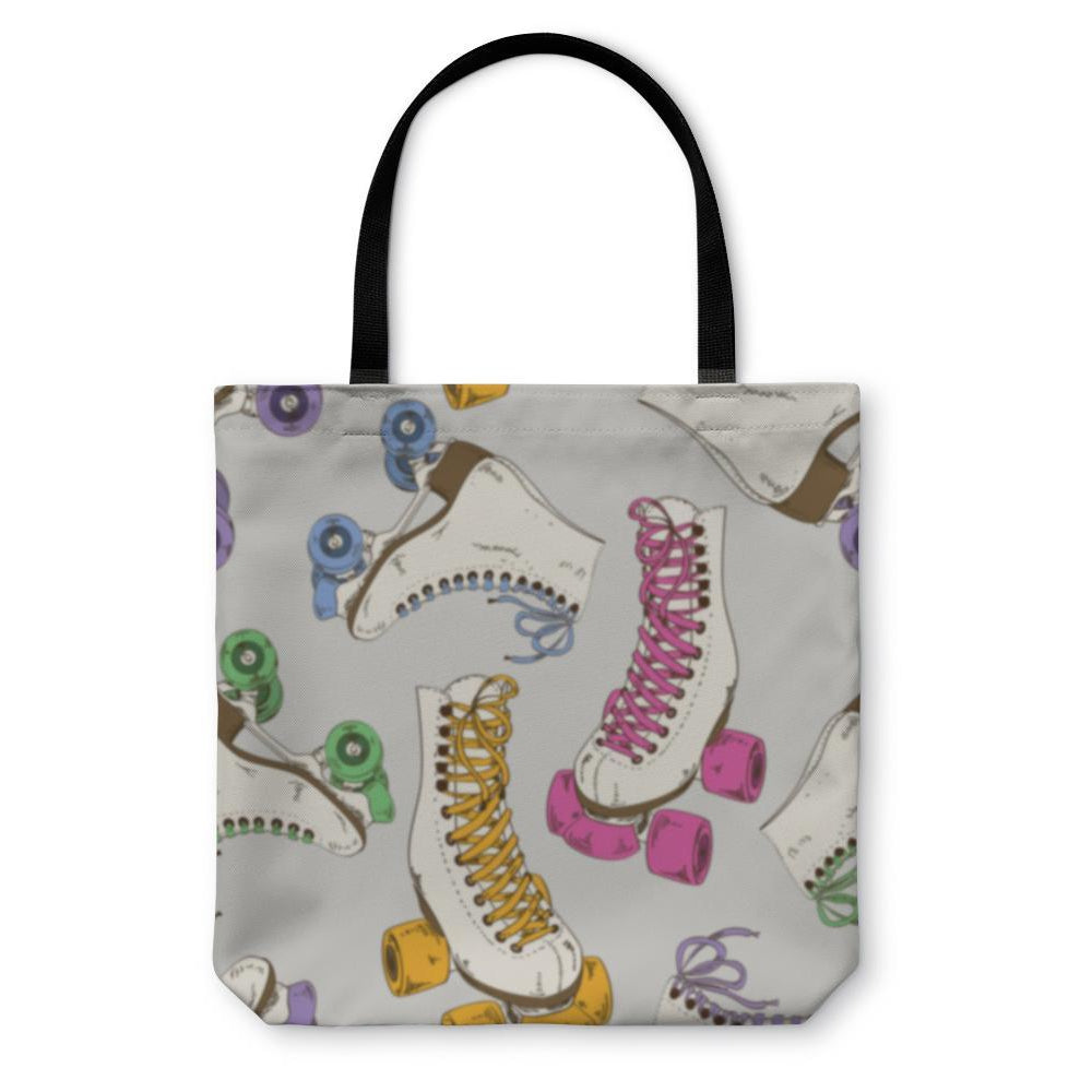 Tote Bag, Pattern With Roller Skates-Tote Bag-LTM Endeavors Gifts