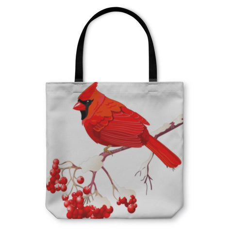 Tote Bag, Red Cardinal Bird-Tote Bag-LTM Endeavors Gifts