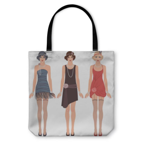 Tote Bag, Three Young Flapper Women Of 1920s-Tote Bag-LTM Endeavors Gifts