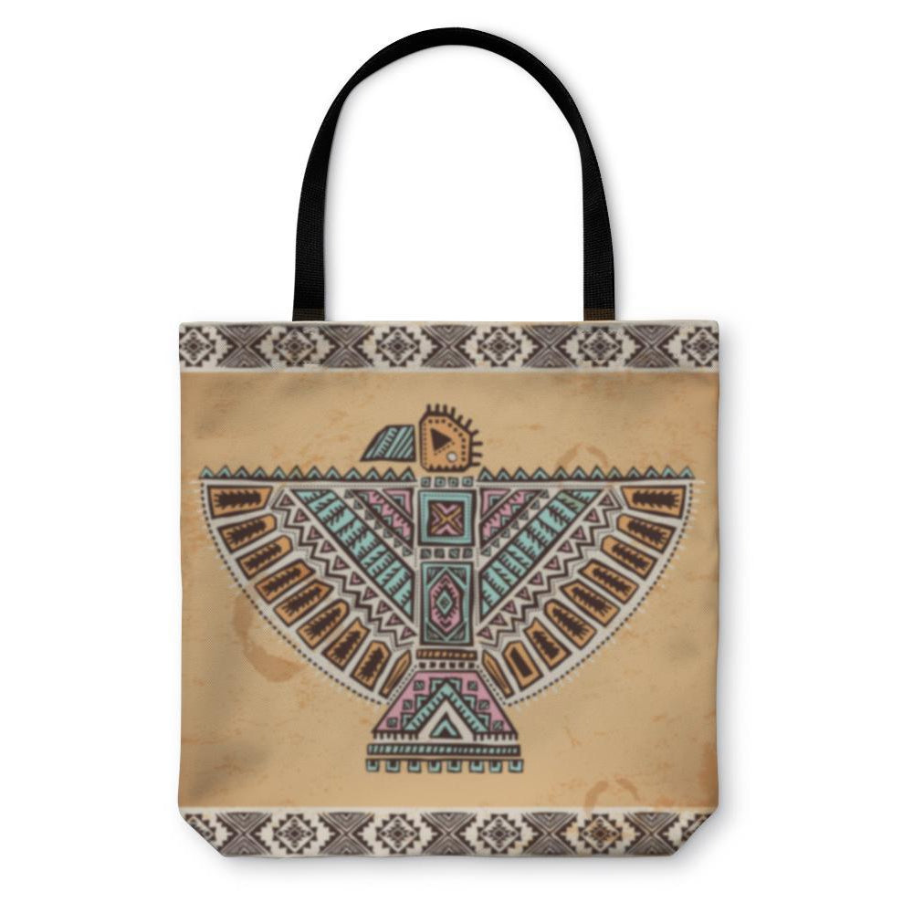 Tote Bag, Tribal Native American Eagle Symbols-Tote Bag-LTM Endeavors Gifts