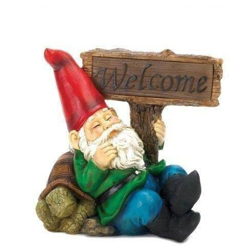 Welcome Gnome Solar Light Statue-Garden gnomes-LTM Endeavors Gifts