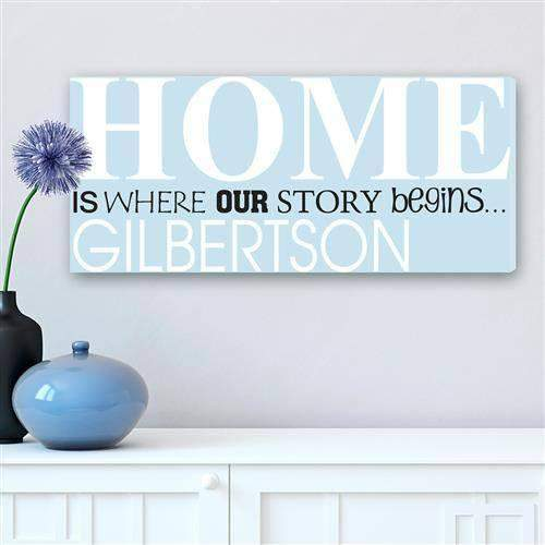 Where Our Story Begins Canvas Sign-decorative plaques-LTM Endeavors Gifts
