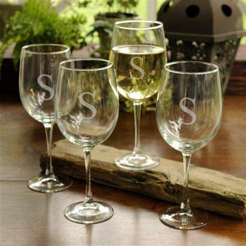 White Wine Glasses Set of 4 - LTM Endeavors Gifts