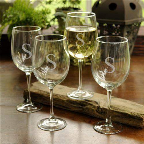 White Wine Glasses Set of 4-Beverage ware-LTM Endeavors Gifts