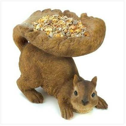 Woodland Squirrel Birdfeeder-Birdfeeders-LTM Endeavors Gifts