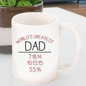 World's Greatest Dad Coffee Mug-Beverage ware-LTM Endeavors Gifts