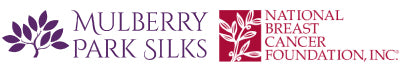 Mulberry Park Silks and National Breast Cancer Foundation Logos
