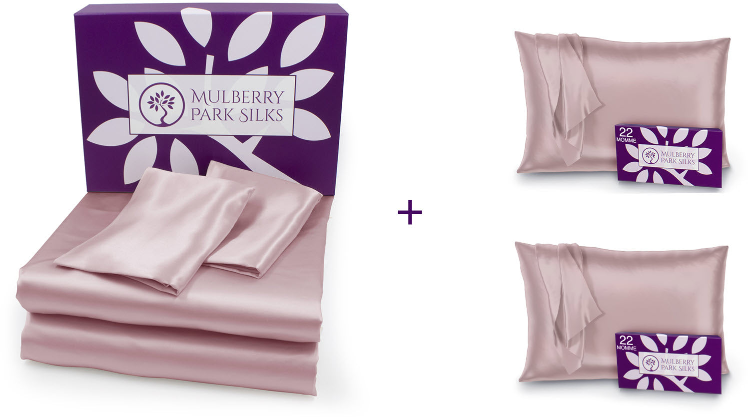 Mother's Day 22 momme sheet set with an extra pair of pillowcases bundle