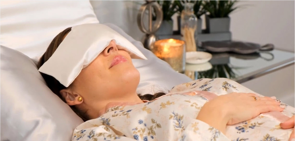 An eye pillow purpose is to provide aromatherapy, gentle pressure, and hot or cold relief