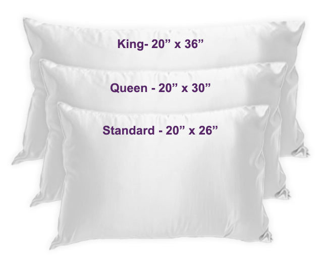 Silk Pillowcase Size Chart
