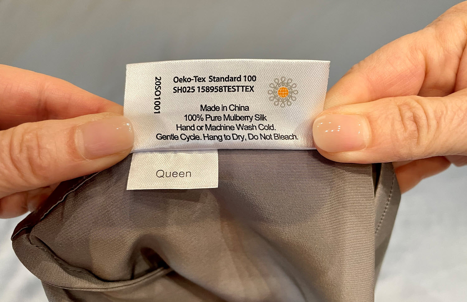Read the Label Carefully on  your silk bedding