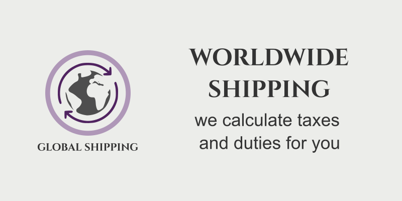 Worldwide Shipping - We Calculate taxes and duties for you - Global Shipping Promo