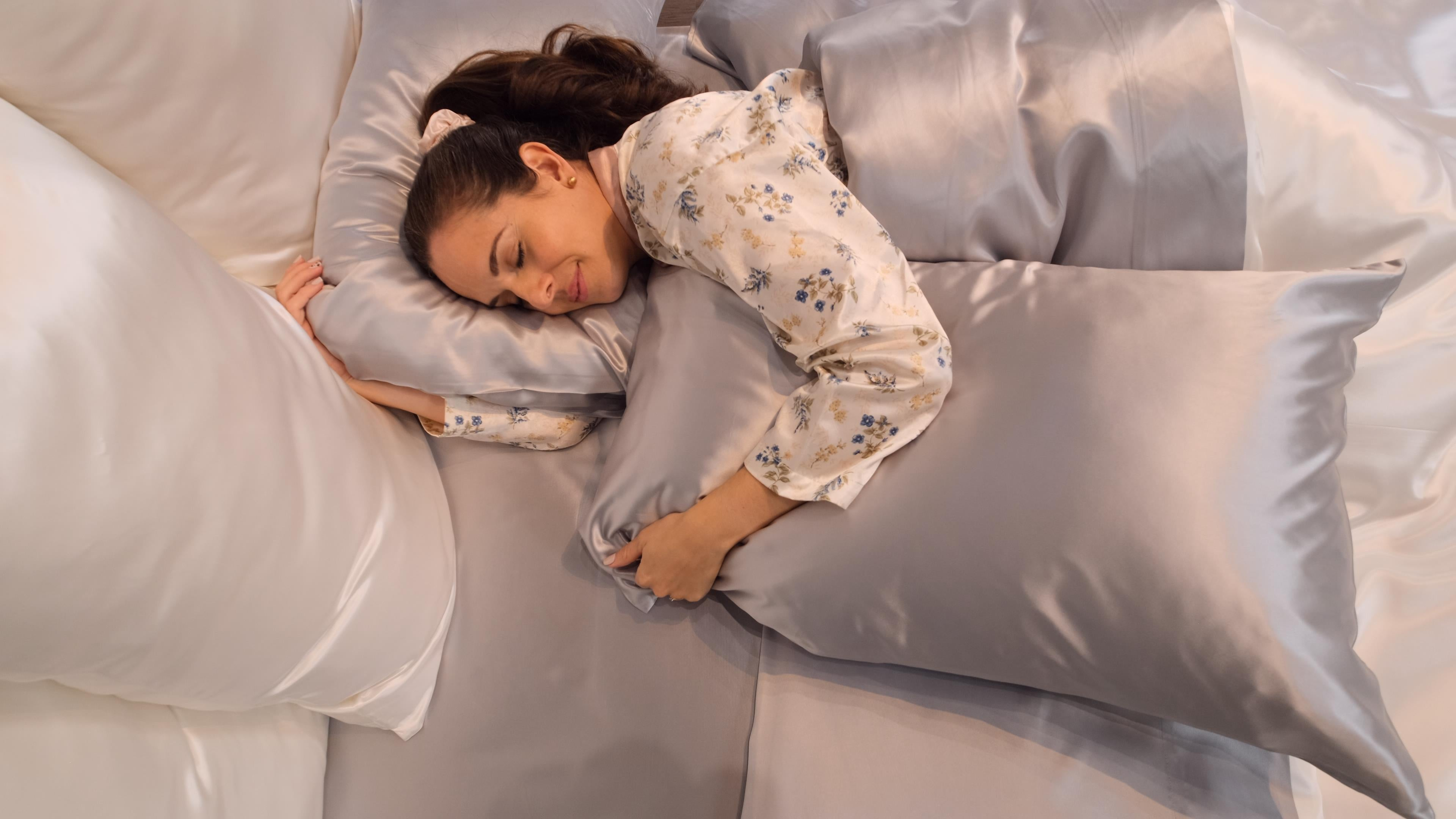 Women sleeping on silk sheets by Mulberry Park