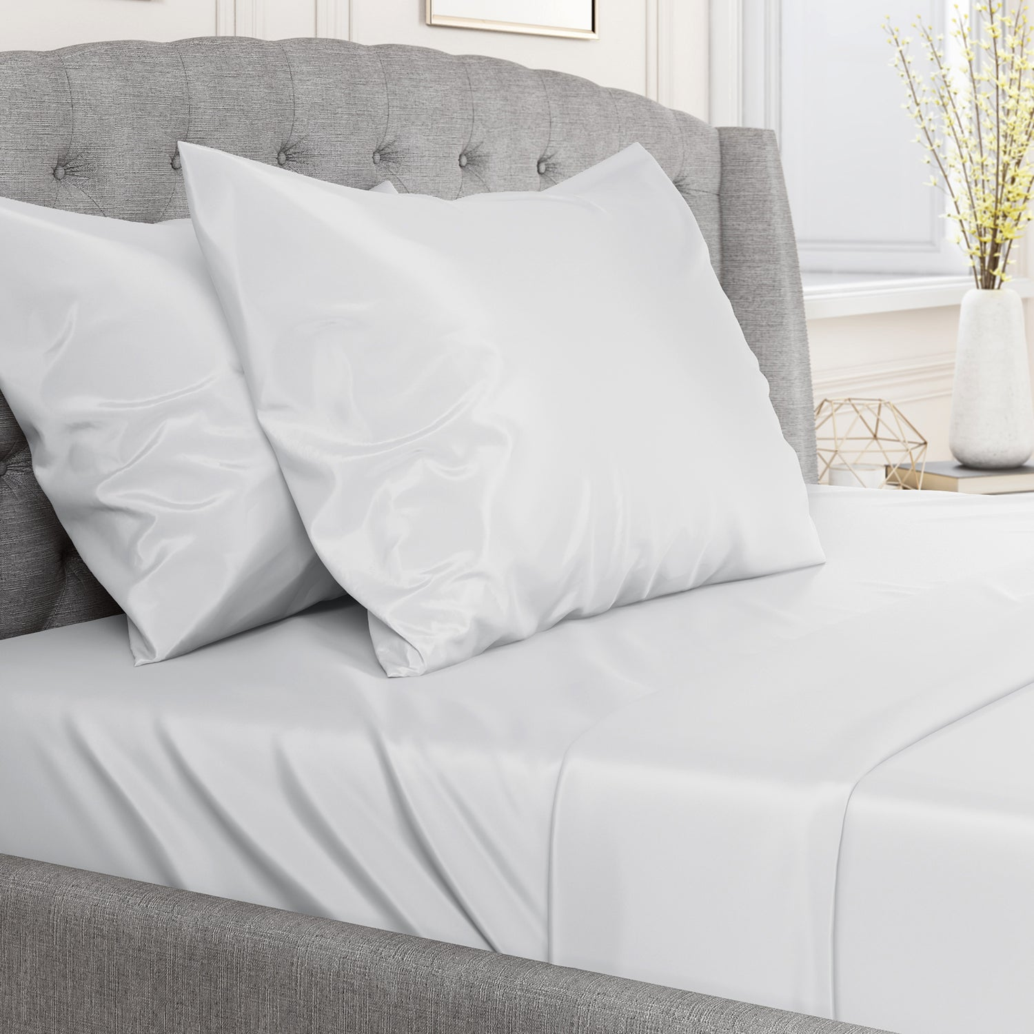 22 Momme Silk Sheet Set- White