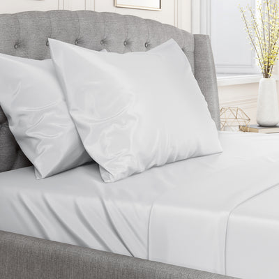 22 Momme Silk Fitted Sheets - White