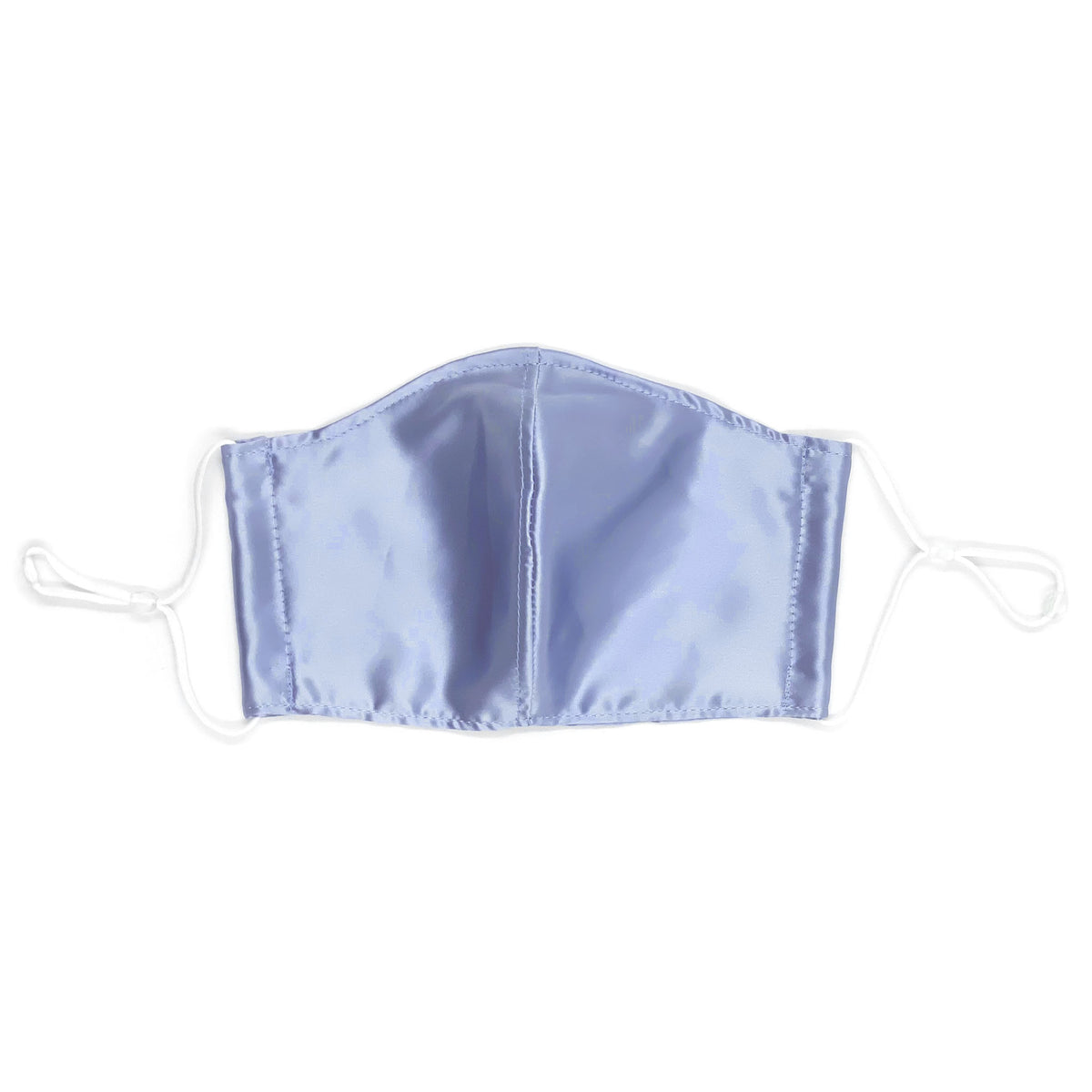 Contoured Mulberry Silk Face Mask Steel Blue