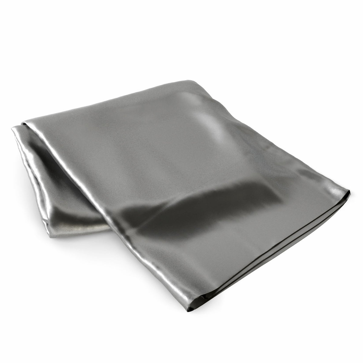 Silk 22 Momme Gunmetal Grey Fitted Silk Sheets
