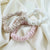 Silk Scrunchies - Pale Pink, Desert Sand, and Pearl Ivory - Pure Mulberry Silk