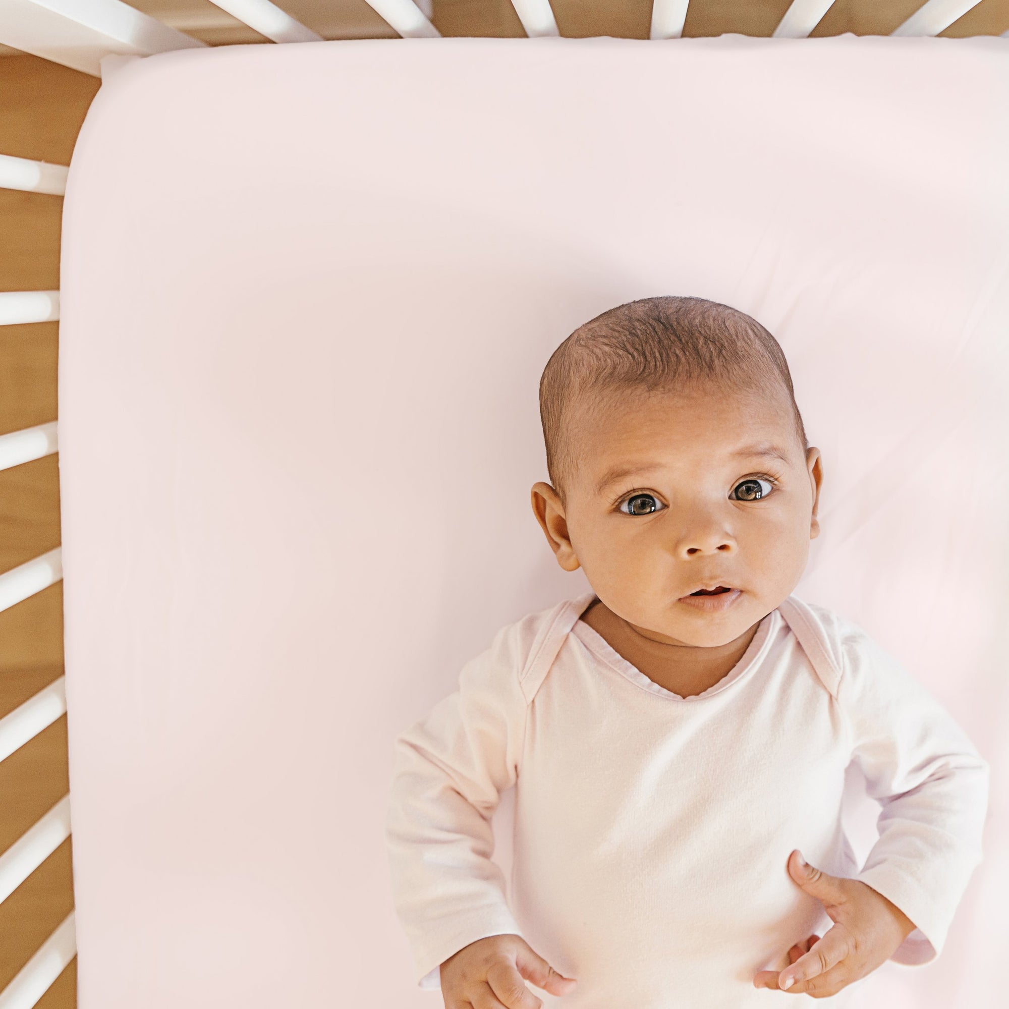 Pure Silk Crib Sheet- Lullaby Pink