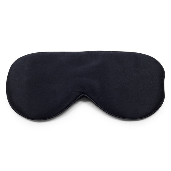 100% Silk Charmuese Eye Mask - Black