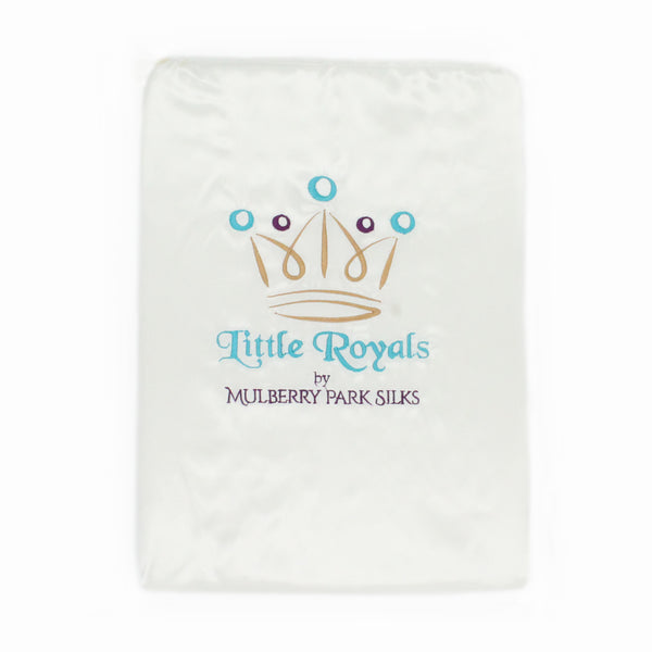 Little Royals Childrens Charmeuse Silk Twin Sheet Set - Natural White