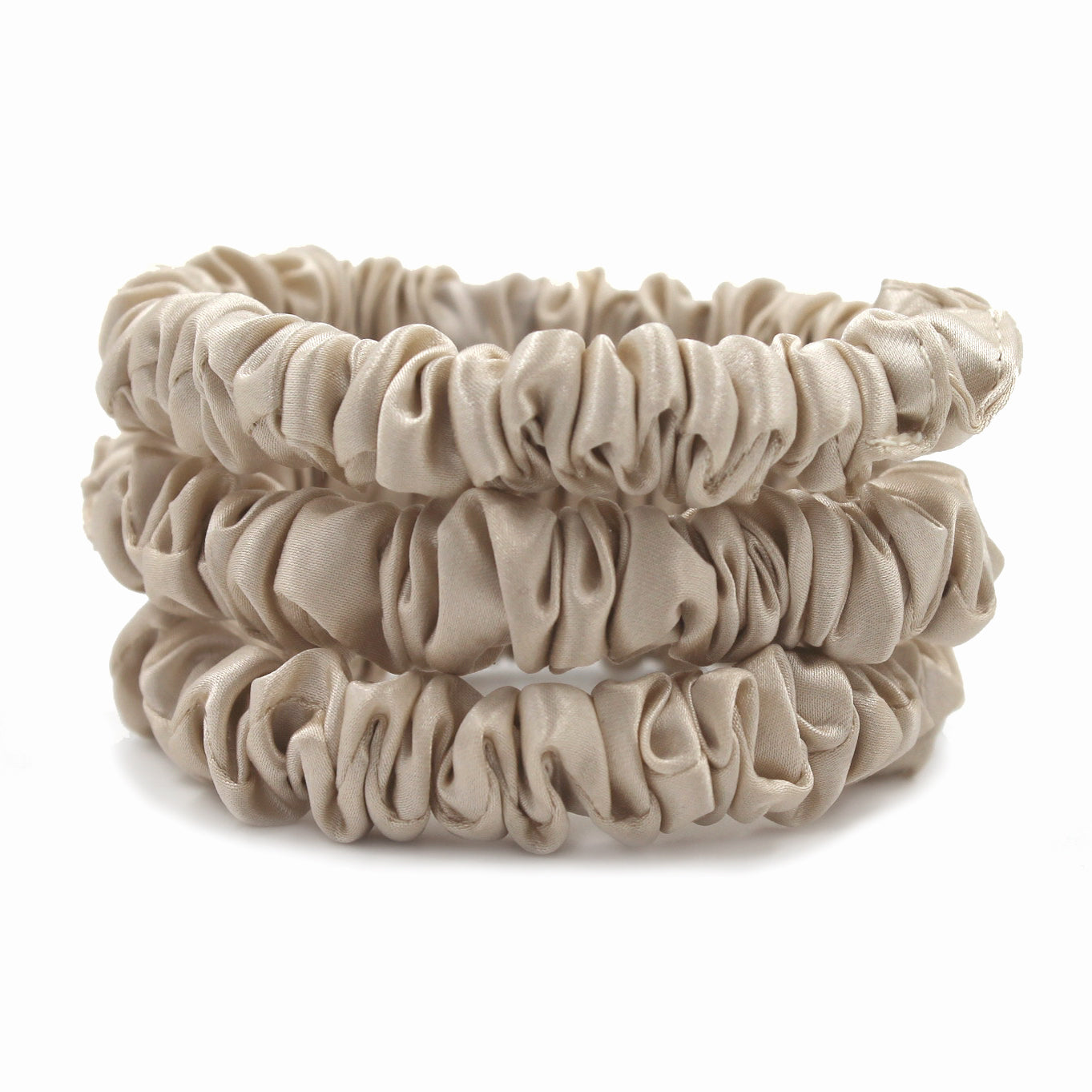 Sand Color Silk Scrunchies by Mulberry Park Silks